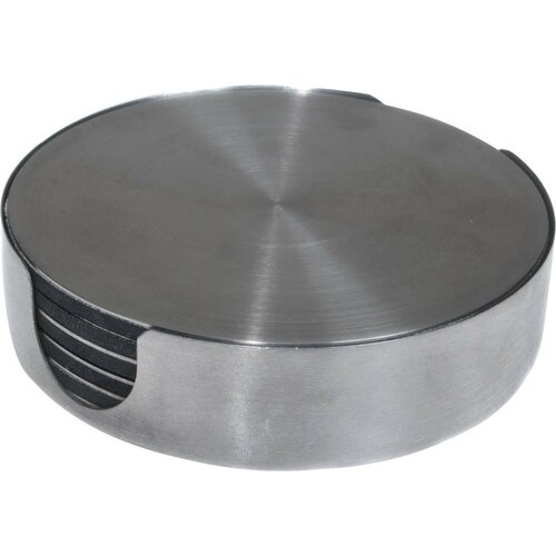 7 Piece Stainless Steel Round Coasters