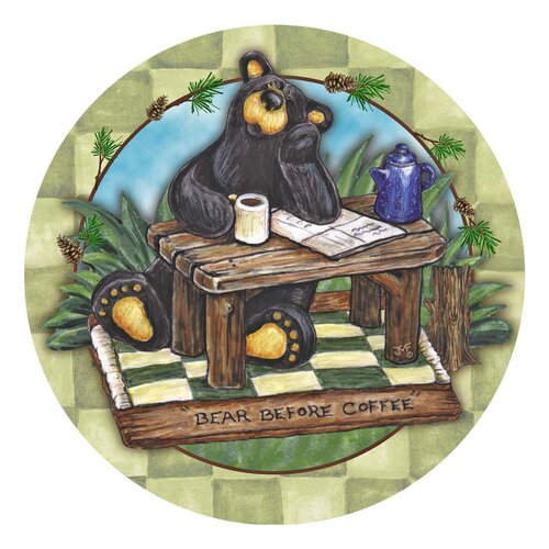 Big Sky Bear Before Coffee Occasions Coaster (Set of 4)