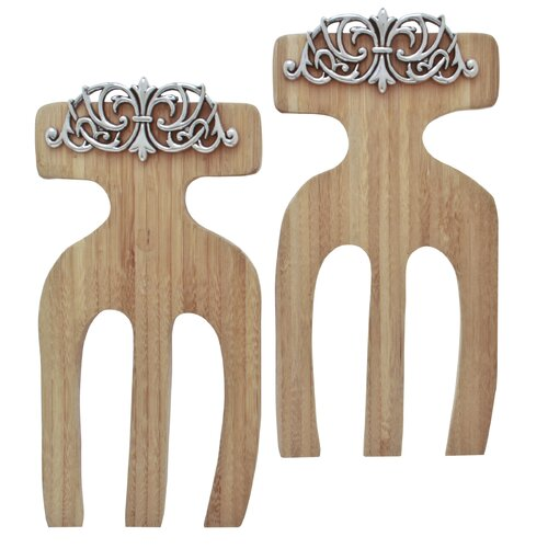 Scroll Bamboo Salad Hands (Set of 2)