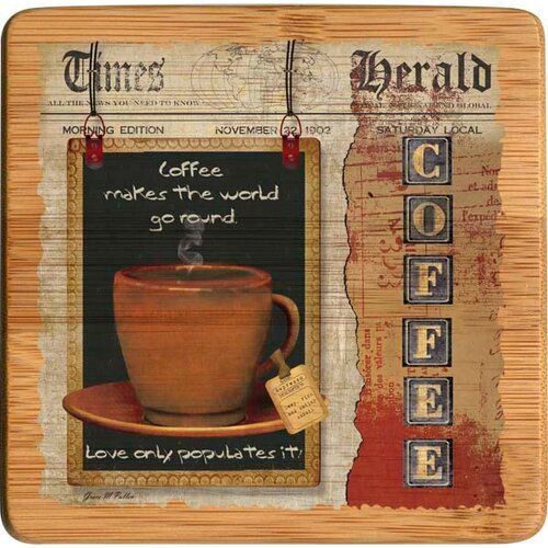 Coffee Love Bamboo Coaster (Set of 4)