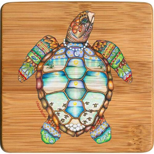 Loggerhead Rhythms Bamboo Coaster (Set of 4)