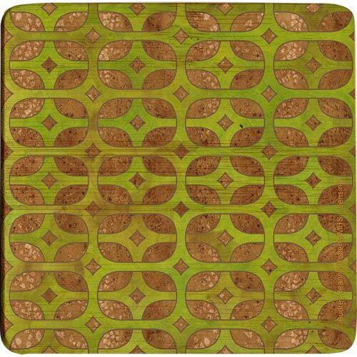Olive Lattice Bamboo Coaster (Set of 4)