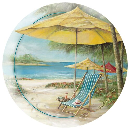 Beach Chair with Umbrella Occasions Coaster (Set of 4)