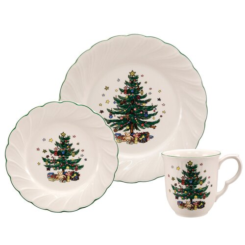Happy Holidays 12 Piece Dinnerware Set