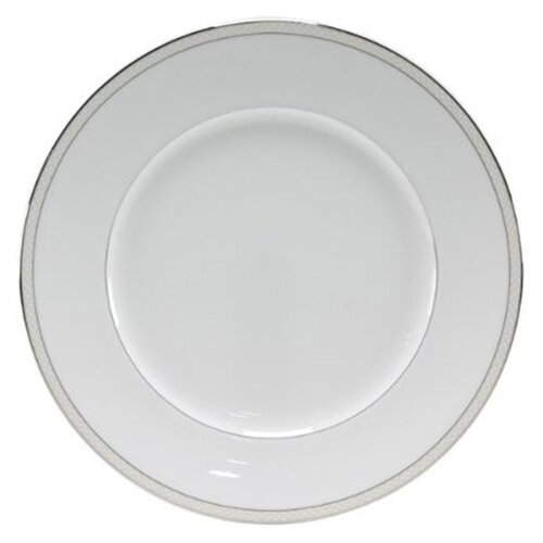 "Nikko Ceramics Platinum Beaded Pearl 10.75"" Dinner Plate"