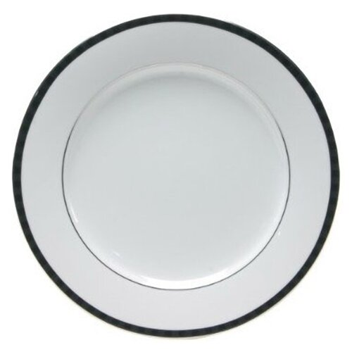 "Nikko Ceramics Black Tie 10.5"" Dinner Plate"