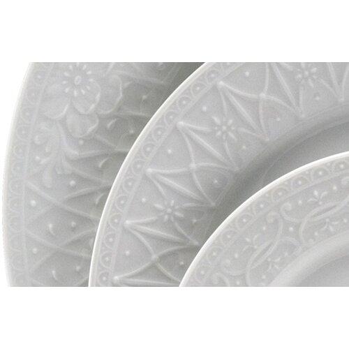 "Nikko Ceramics Blanc Fleur 6.5"" Bread Plate"