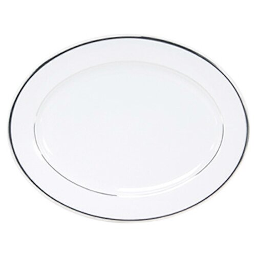 "Nikko Ceramics Sentiments Band of Platinum 14"" Oval Platter"