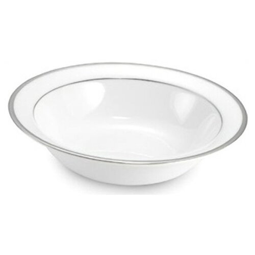 "Nikko Ceramics Sentiments Band of Platinum 6.5"" Fruit / Cereal Bowl"
