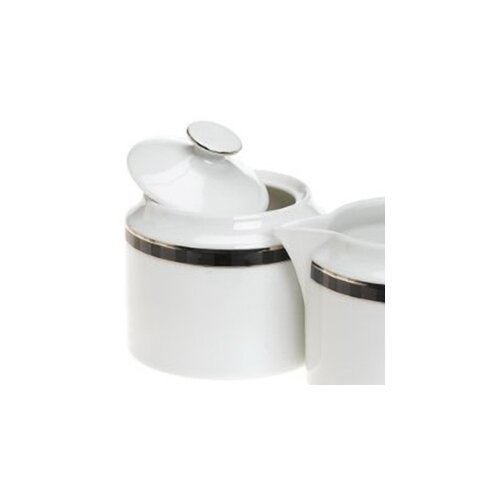 Nikko Ceramics Black Tie Sugar Bowl with Lid