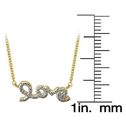 Gem Jolie 18k Gold Overlay Diamond Accent Love Necklace