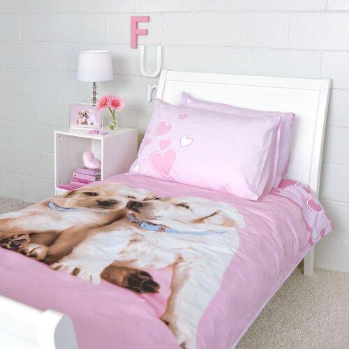 Puppy Love Duvet Cover Single Bed Set