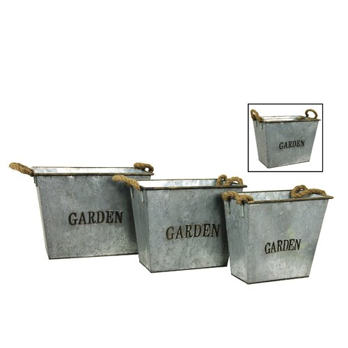 Square Garden Bucket (Set of 3)