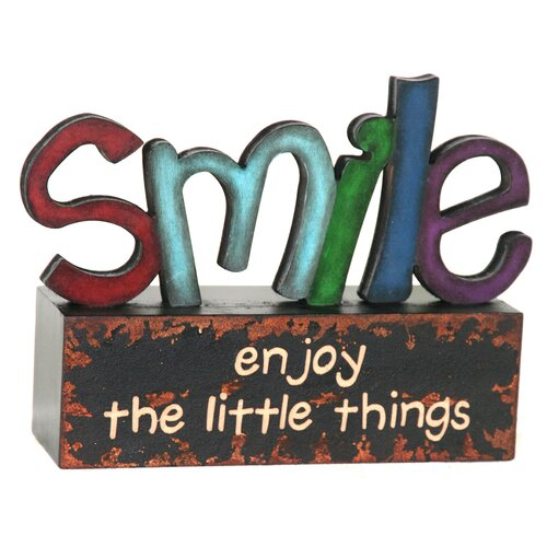 River Cottage Gardens Smile Table Top Art Letter Block