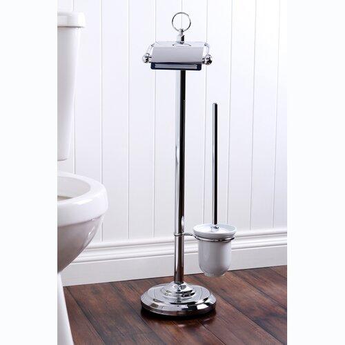 Kingston brass vintage free standing pedestal toilet paper Toilet paper holder free standing