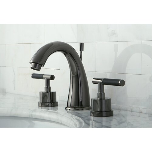 Water Onyx Double Handle Widespread Bathroom Faucet With Brass Pop Up Drain Wayfair