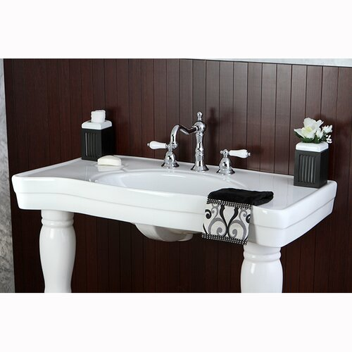 ... Brass Imperial Wall Mount Pedestal Bathroom Sink & Reviews Wayfair