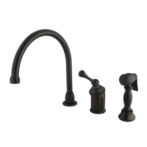 Buckingham Single Handle Kitchen Faucet with Spray