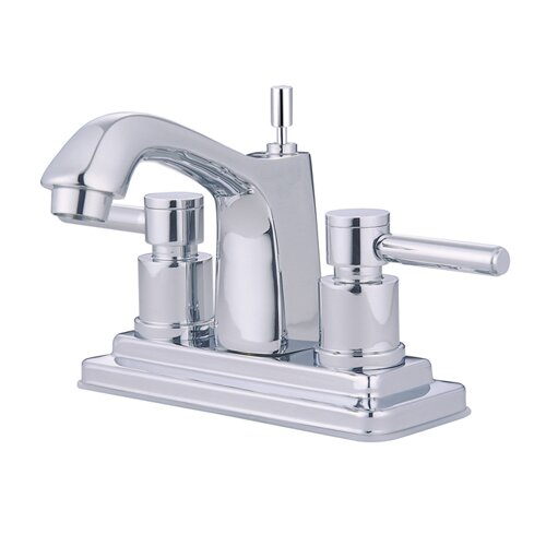 Concord Double Handle Centerset Bathroom Faucet with Brass Pop-Up Drain