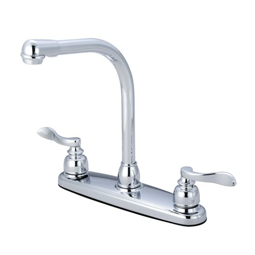 NuWave French Double Handle Centerset High-Arch Kitchen Faucet