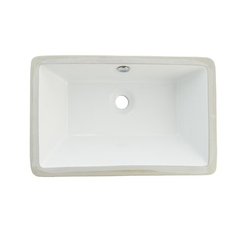 Castillo China Under Mounted Bathroom Sink