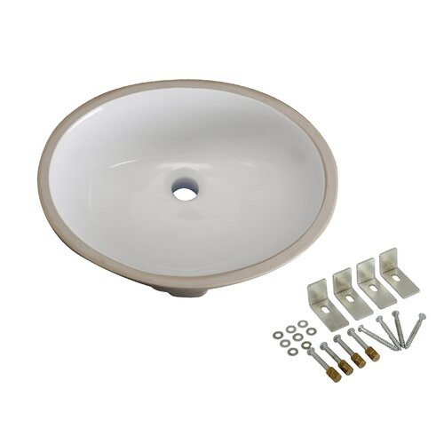 Bath Cove China Oval Under Mounted Bathroom Sink