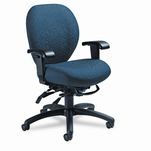 Global Total Office Mid-Back Multi-Tilt Office Chair with T-Arms