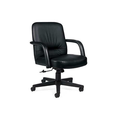Global Total Office Low-Back Leather Executive Office Chair