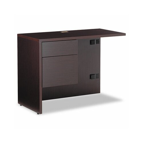 "Global Total Office Genoa 29"" H x 40"" W Box/File Drawer Pedestal Left Desk Return"