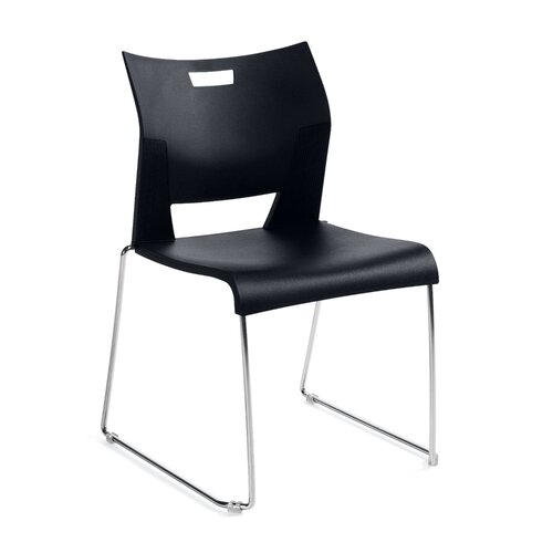 Global Total Office Mid-Back Duet Armless Office Chair