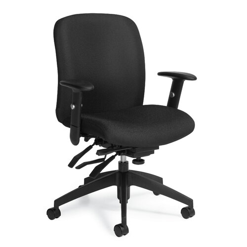 Global Total Office Truform Mid-Back Multi Tilter Office Chair with Arms