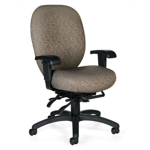 Global Total Office High-Back Multi-Tilter Office Chair with Arms