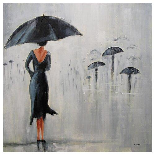 Parapluie Canvas by Claude Viau and Karine Painting Print