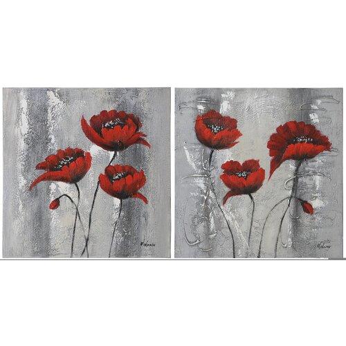 Primavera by Olivia Salazar 2 Piece Original Painting on Canvas (Set of 2)