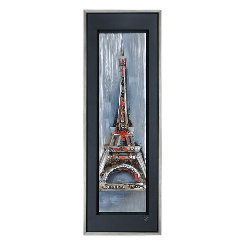 Paris Illuminated by Giovanni Russo Framed Original Painting