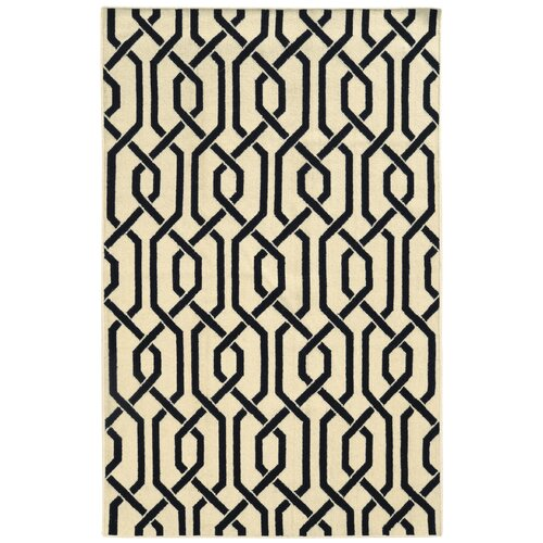Matrix Cream Geometric Rug