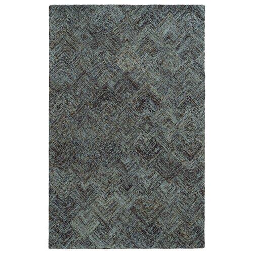 Colorscape Charcoal / Blue Geometric Rug