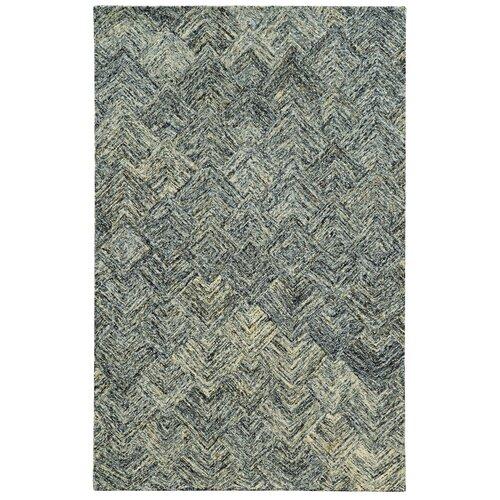 Colorscape Charcoal / Beige Geometric Rug