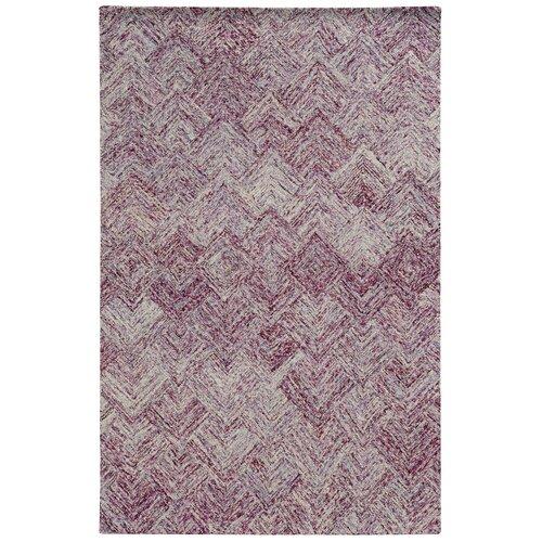 Colorscape Purple Geometric Rug