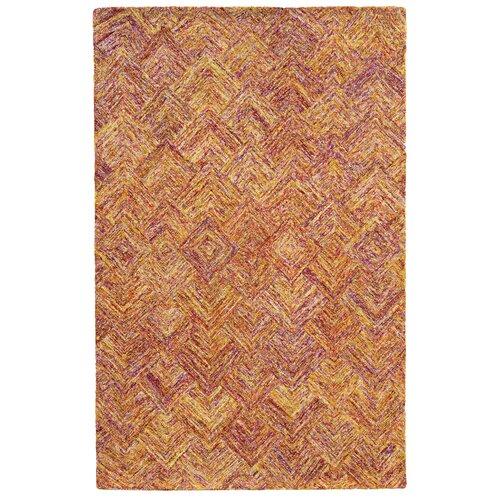 Colorscape Orange / Pink Geometric Rug