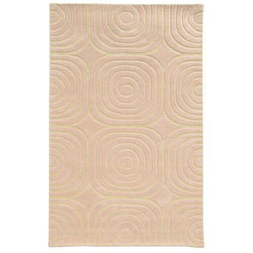 Optic Pink / Ivory Geometric Rug
