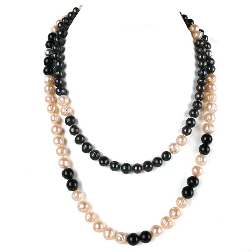 Long Strand Gemstone and Cultured Pearl Necklace