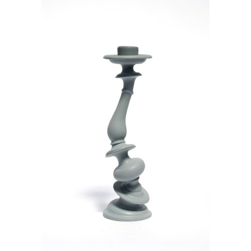 Areaware Resin and Marble Distortion Candlestick