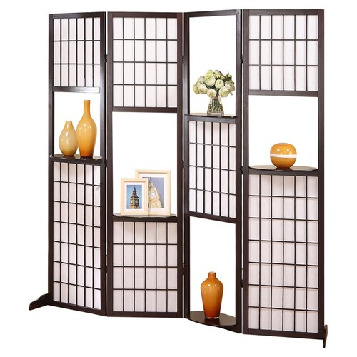"Stonegate Designs Furniture 70.4"" x 70.9"" Seville Curio 4 Panel Room Divider"