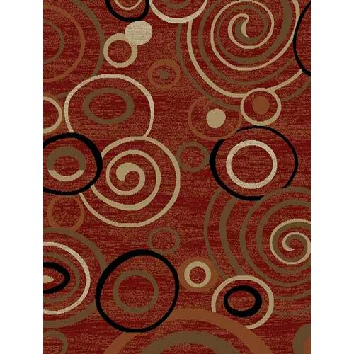 Royal Dark Red Scrolls Rug