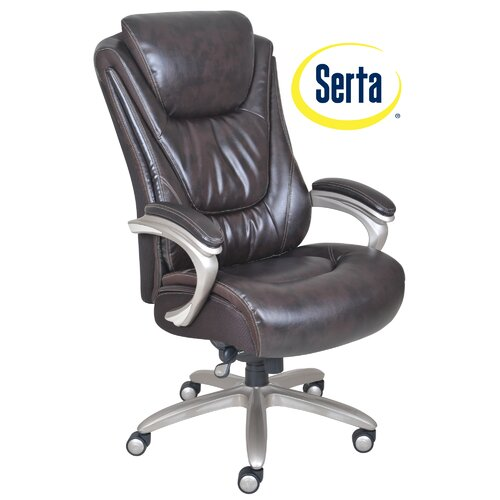 Executive Office Desk Chair Serta Memory Foam High Back Big And Tall Leather