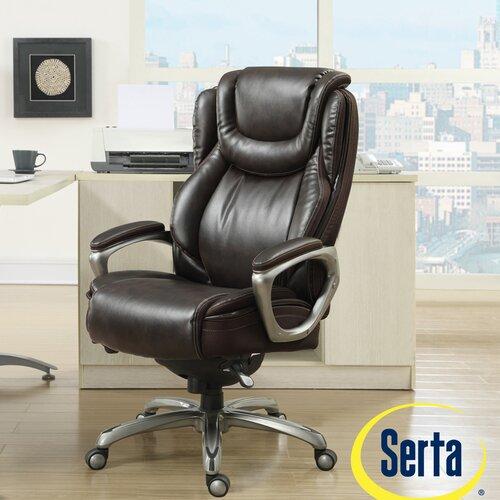 Serta At Home Harmony High Back Executive Office Chair Reviews Wayfai