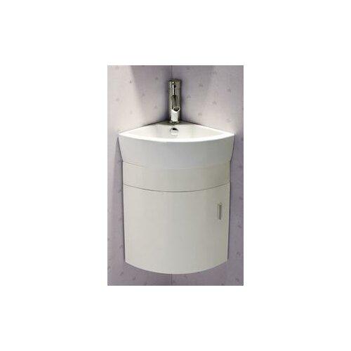 16 quot single melamine wall hung corner bathroom vanity set wayfair