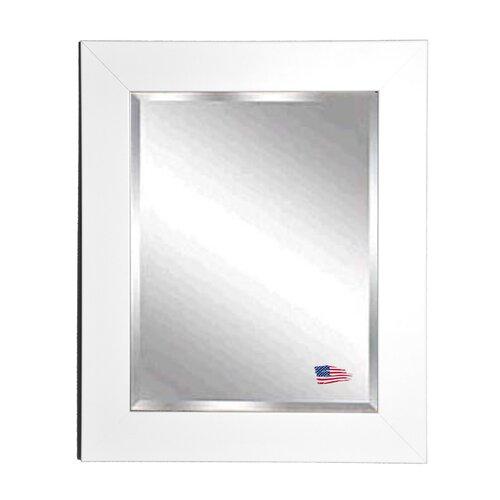 Jovie Jane White Satin Wide Wall Mirror
