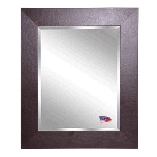 Jovie JaneWide Brown Leather Wall Mirror